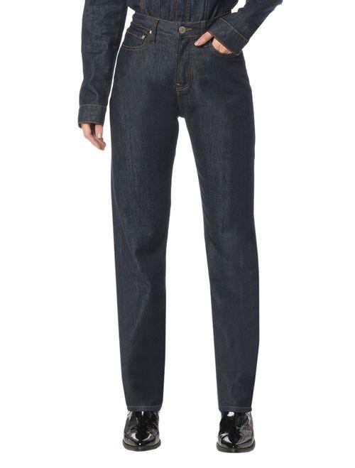 Calça Jeans 5 Pocktes High Rise Straight Ckj 030 High Rise Straigh - Marinho