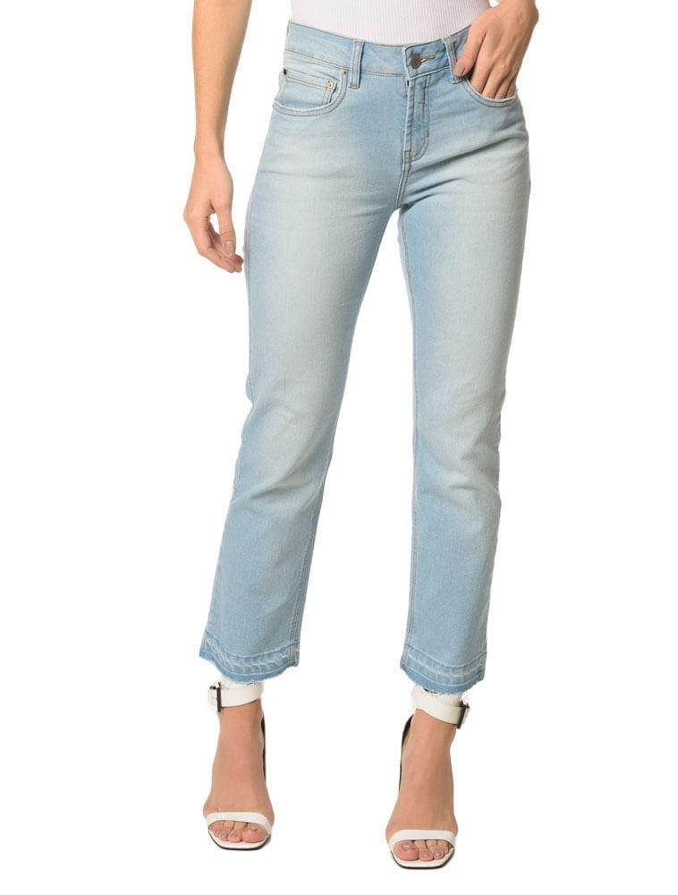 80f26377db7d8 Calça Jeans Five Pockets Mid Rise Straigh - Calvin Klein