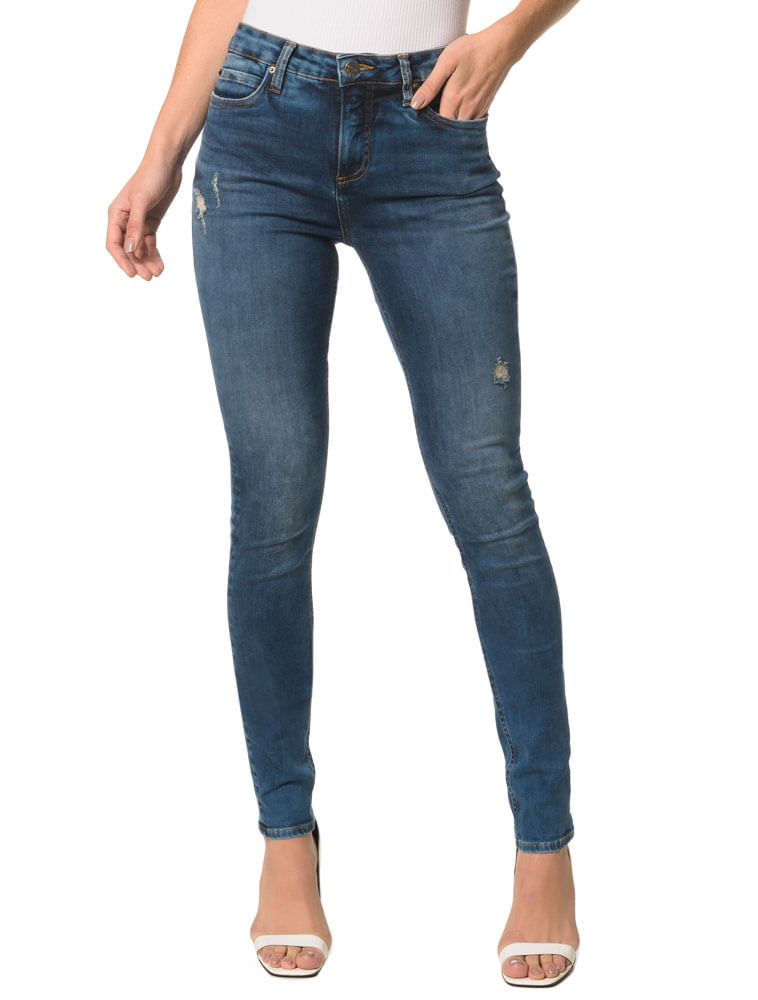 54a7f06b41e58 Calça Jeans Five Pockets Super Skinny - Calvin Klein