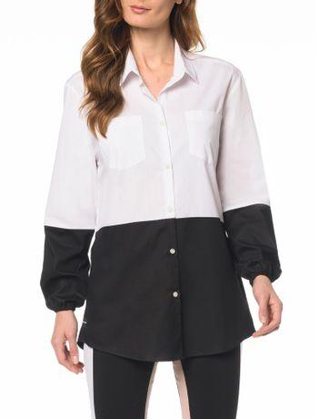 Camisa-CKJ-Fem-ML-Bicolor
