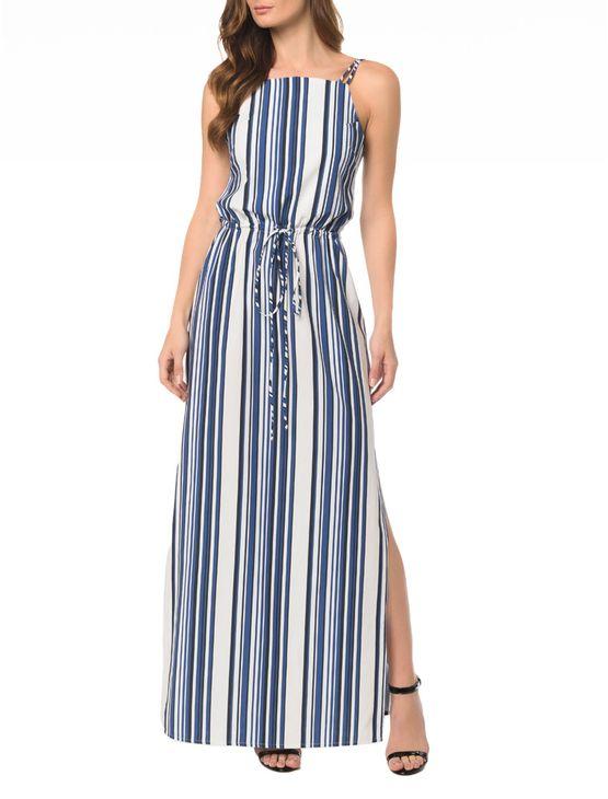 Vestido-CKJ-Longo-Blue-Stripes