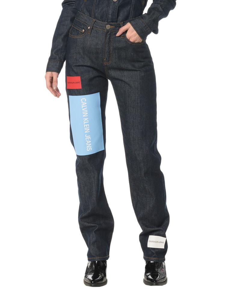 b5c4910f02 Calça Jeans Pocktes High Rise Straight CKJ 030 High Rise Straigh ...