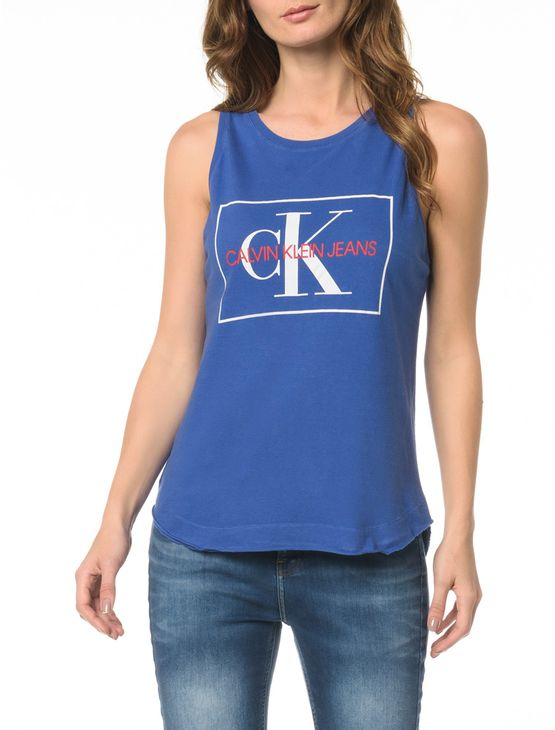 af3e3f7de145f Blusa CKJ Fem SM Logo Etiqueta - Calvin Klein