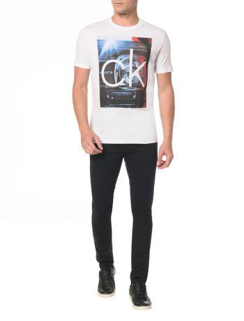 Camiseta Slim Com Estampa Blue - Calvin Klein 8165d46e2b5dc