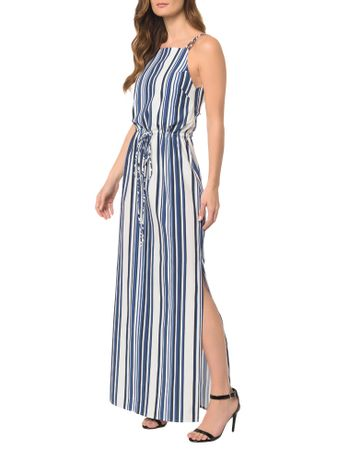 Vestido-CKJ-Longo-Blue-Stripes