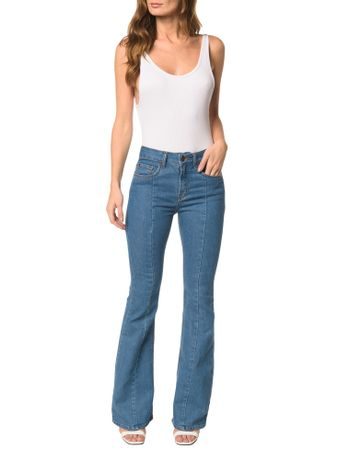 Calca-Jeans-Five-Pockets-High-Rise-Flare-