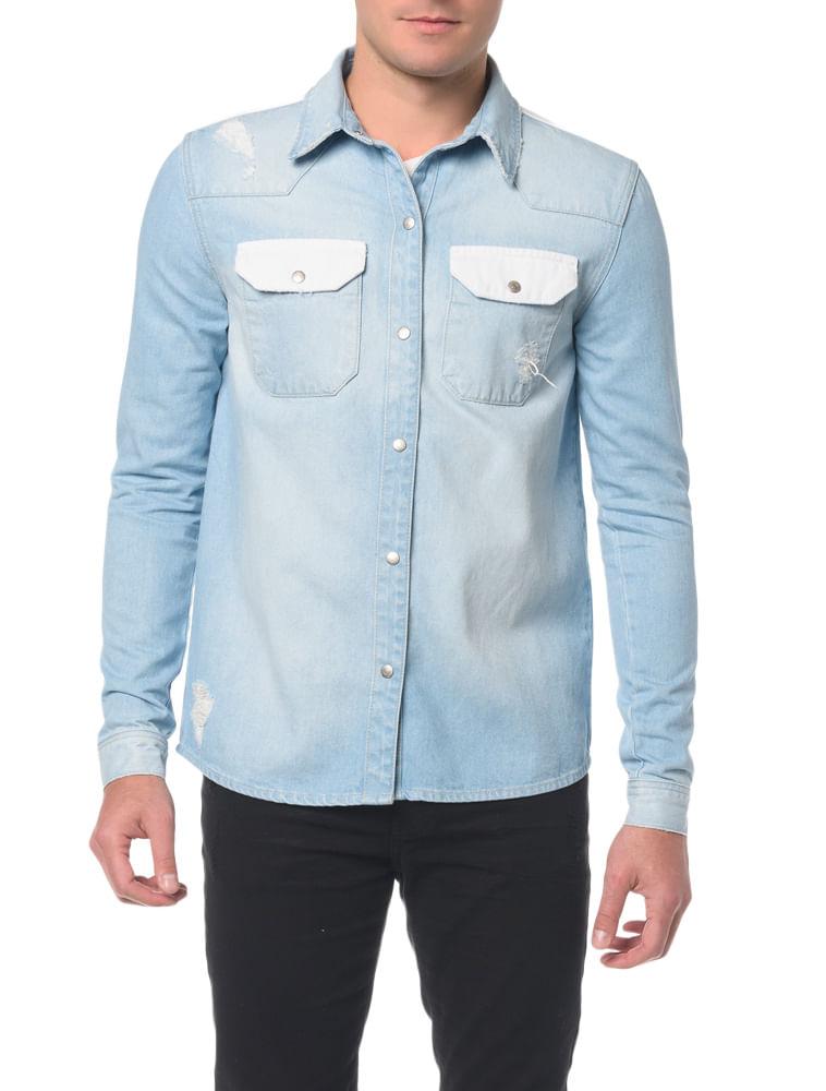 959a496802c55 Camisa Jeans Manga Longa - Calvin Klein