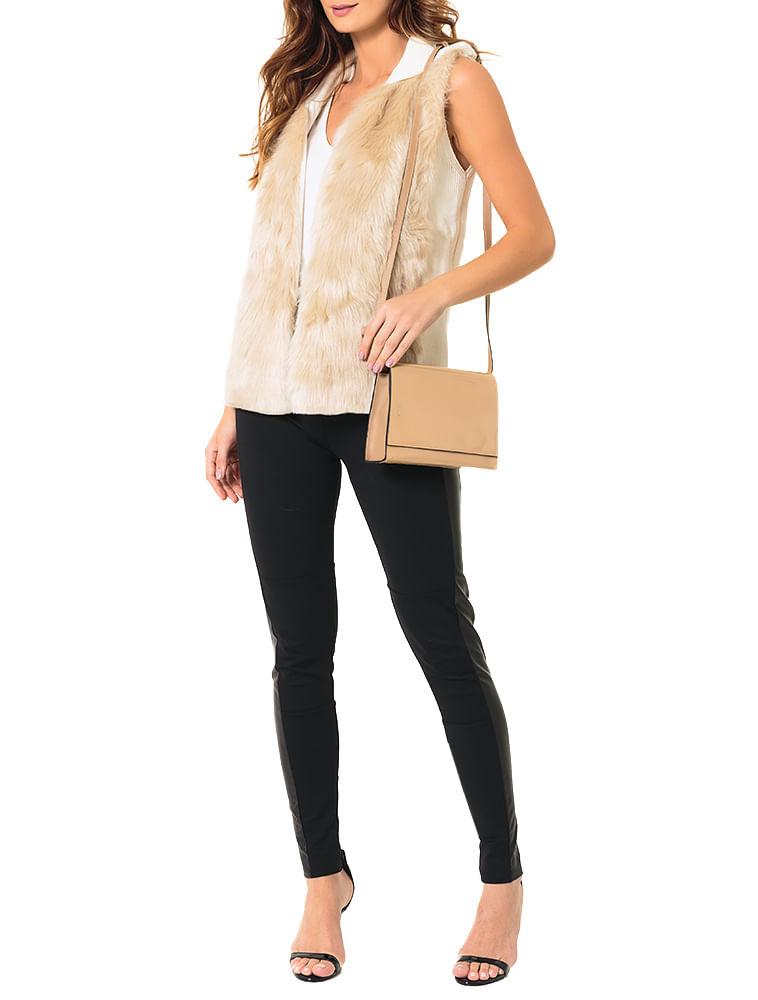 Bolsa Pequena Calvin Klein Jeans Verniz e Couro Caqui Claro - Calvin ... 0f65890c64