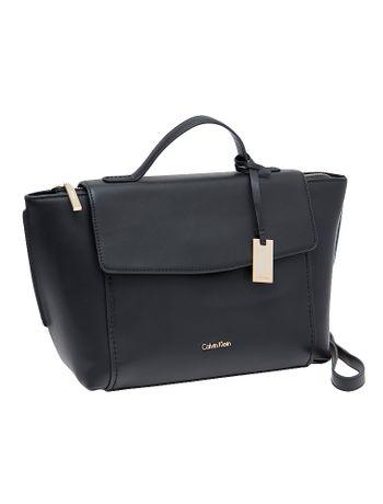 Bolsa Calvin Klein Com Couro Chrissy Top Handle Preto - Calvin Klein 5269909182