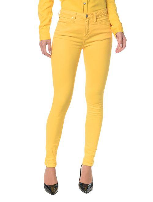 Calça Color Five Pock Super Skinny Amarela