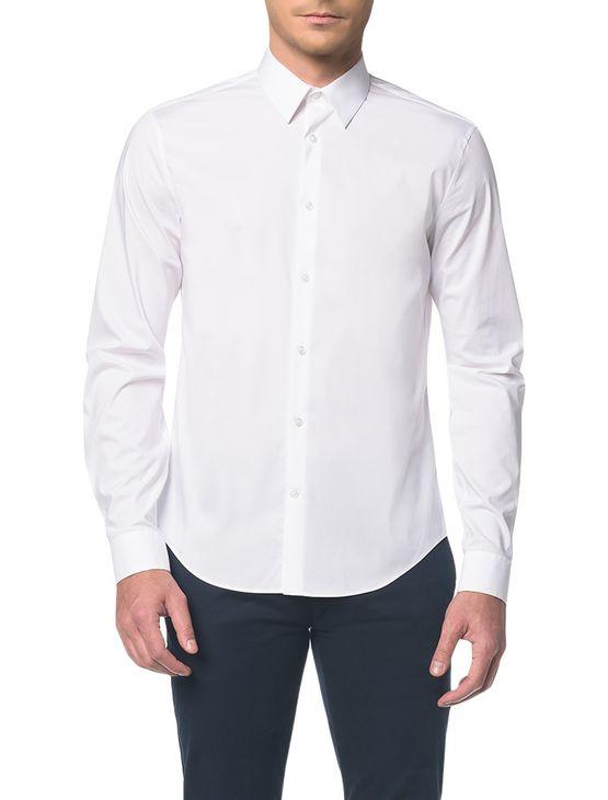 Camisa-Calvin-Klein-Extra-Slim-Simples---Branco-2---2
