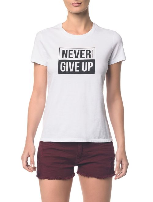 Blusa Ckj Fem Never Give Up Branco 2