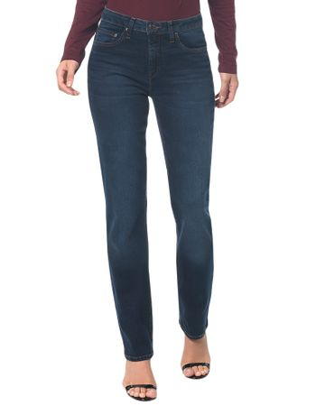 Calca-Jeans-Five-Pockets-Mid-Rise-Straig---Marinho---34