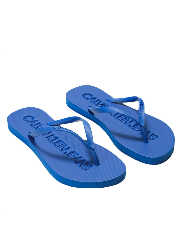 acba34817ba10 Calvin Klein · Feminino · Acessórios · Calçados · Chinelo -Ckj-Fem-Baixo-Relevo---Azul-Royal---35-36