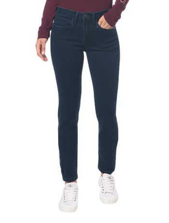 Calca-Jeans-Five-Pockets-Mid-Rise-Skinny---Marinho---36