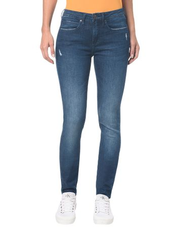Calca-Jeans-Five-Pockets-Mid-Rise-Skinny---Marinho---34
