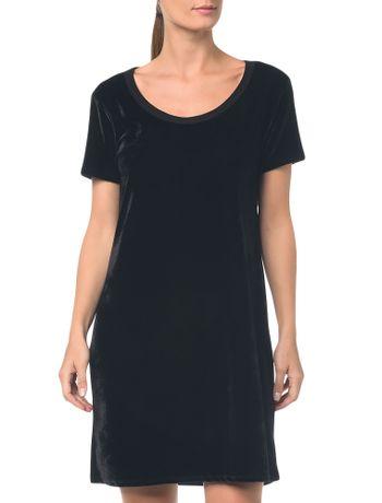 Camiseta-T.Shirt-Dress-De-Veludo---Preto---P