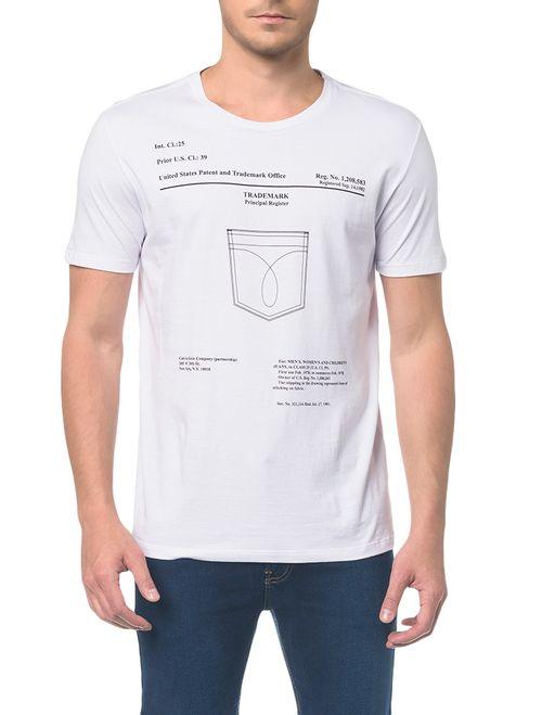 Camiseta Ckj Mc Est Bolso Branco 2