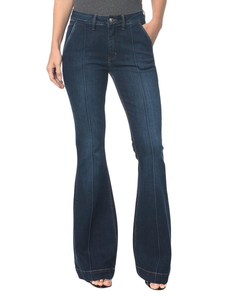 80b7f2716 Calça Jeans Bolso Faca Flare Marinho - Calvin Klein