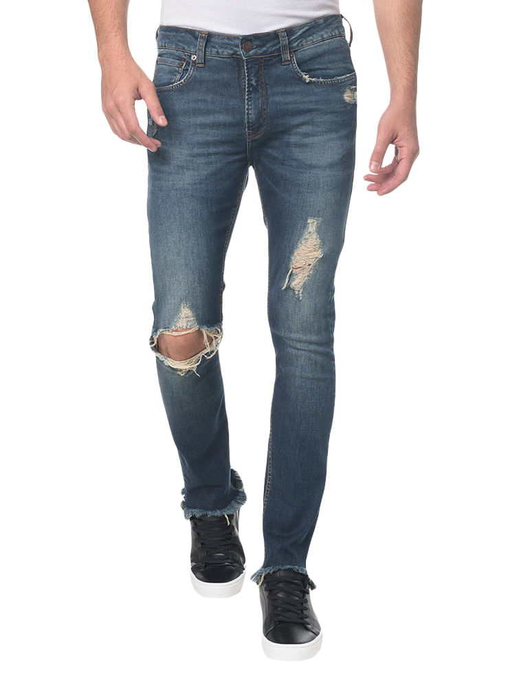 fef47214464ce7 Calça Jeans Five Pocktes Skinny Ckj 016 Skinny - Marinho