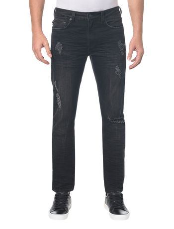 Calca-Jeans-Five-Pockets-Slim---Preto---38