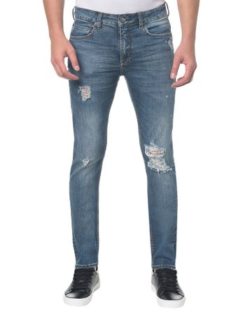 Calca-Jeans-Five-Pockets-Slim---Azul-Claro---36