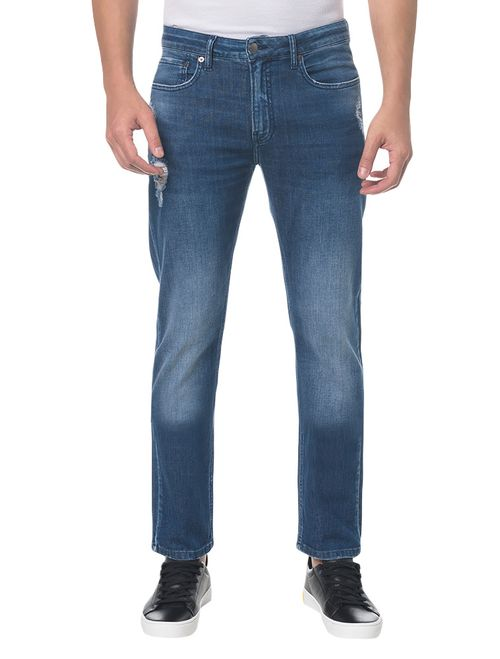 Calça Jeans Five Pocktes Slim Ckj 026 Slim - Marinho