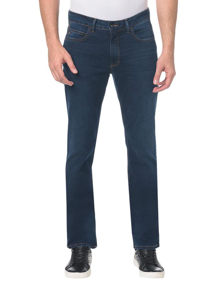 19f60cd0f Calça Jeans Slim Straight Marinho - Calvin Klein