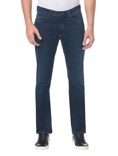 Calça Jeans Slim Straight Marinho