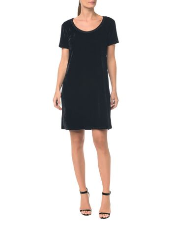 Camiseta-T.Shirt-Dress-De-Veludo---Preto---PP