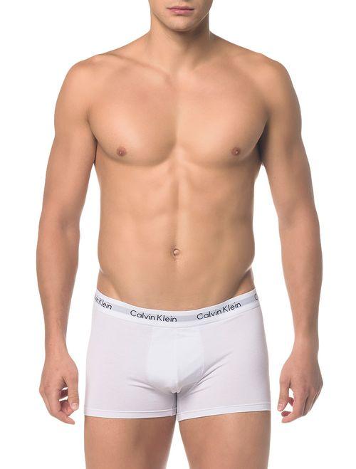 Kit 3 Cuecas Calvin Klein Underwear Low Rise Trunk Branca