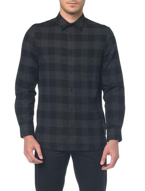 Camisa M/L Detalhe Tecido Aplicado