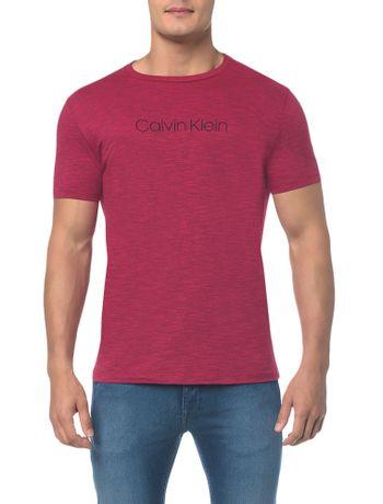 Camiseta-Regular-Basica-Flame-Mescla---Rosa-Escuro---M