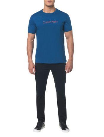 Camiseta-Regular-Basica-Flame-Mescla---Azul-Medio---P