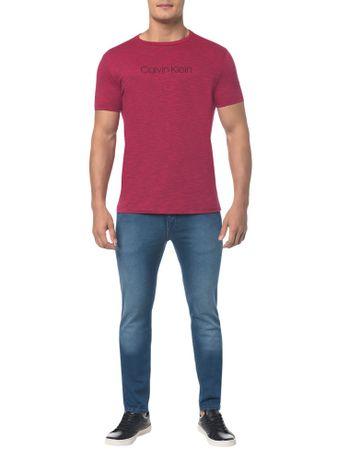 Camiseta-Regular-Basica-Flame-Mescla---Rosa-Escuro---PP