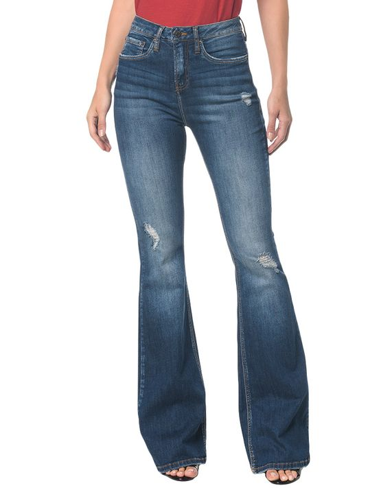 Calca-Jeans-Five-Pck-High-Rise-Flare---Marinho---34