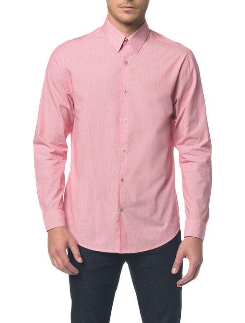 Camisa Regular Ml Micro Listrad Vermelho