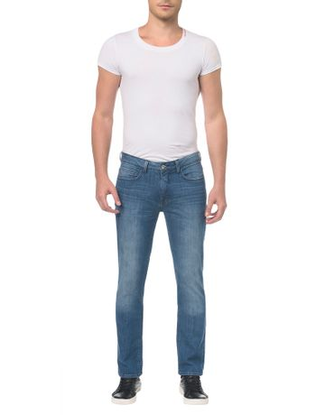 Calca-Jeans-Pockets-Slim-Straight-Azul-Medio-