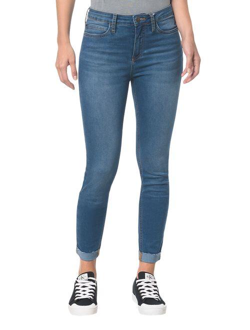 Calça Jeans Five Pocktes Super Skinny Ckj 001 Super Skinny - Azul Médio