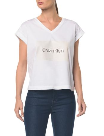 Blusa-M-C-C-Arte-Calvin-Klein-Decote-V---Branco-2---G