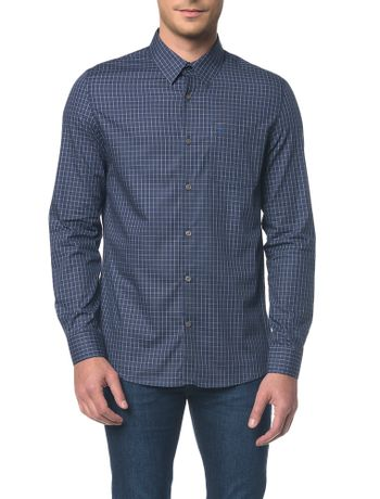 Camisa-Regular-Geneva-Xadrez-Exclusivo---Marinho---1