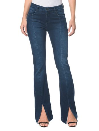 Calca-Jeans-Five-Pockets-Slim-Flare---Marinho---36