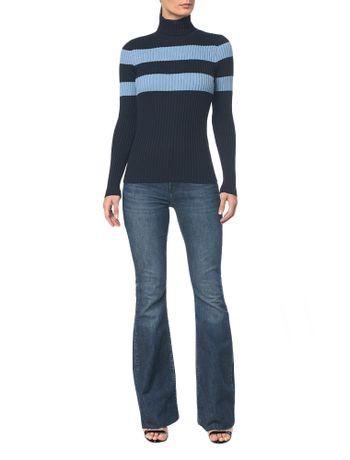 Calca-Jeans-Five-Pck-Mid-Rise-Flare---Marinho---36