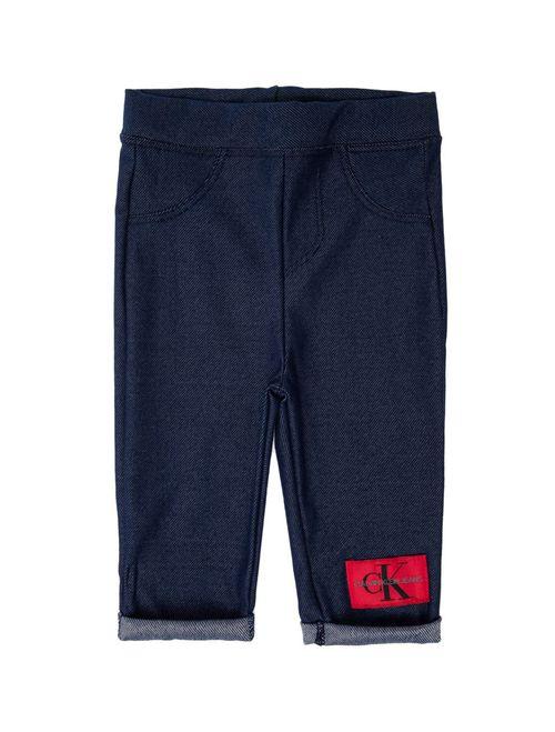 Calça Malha Ckj Five Pockets - Azul Médio