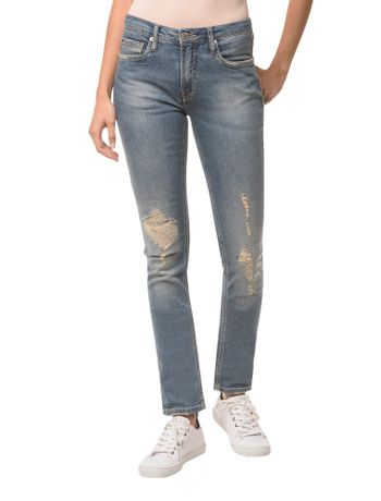 Calca-Jeans-Five-Pockets-Mid-Rise-Slim----Azul-Claro---34