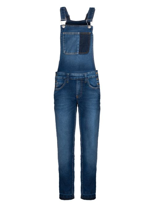 Macacão Jeans  - Azul Médio