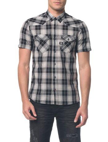 Camisa-Mc-Ckj-Masc-Xadrez-Etq-Re-Issue----Preto---P