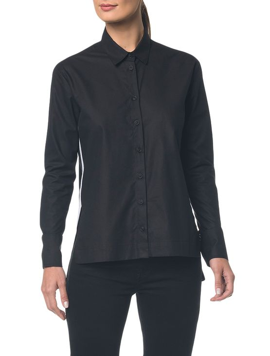 Camisa-Ckj-Fem-Ml-Bicolor-Faixa-Lateral----Preto---36