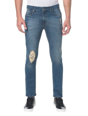 Calca-Jeans-Five-Pockets-Slim----Azul-Medio---42