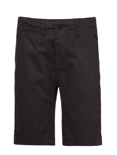 Bermuda Color Chino Mini Print  - Preto